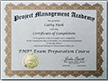 PMP Certification of Completion