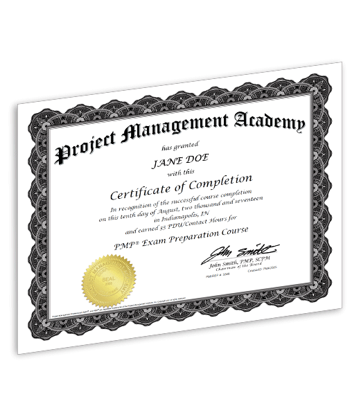 pmp course materials - project management academy